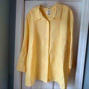 Talbots Woman Irish Linen blouse
